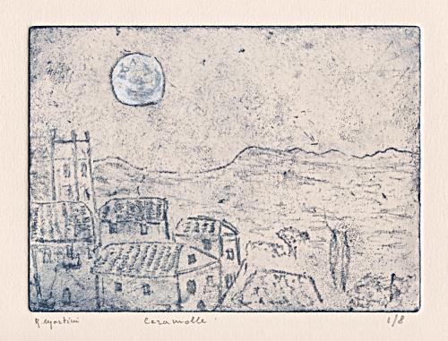 …queta sovra i tetti e in mezzo agli orti posa la luna…