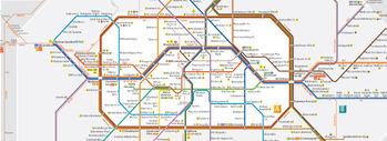 Mappa dei mezzi di Berlino