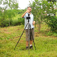 Camera on tripod — photo by Bill and Nelle