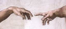 Detail of the Creation of Adam by Michelangelo