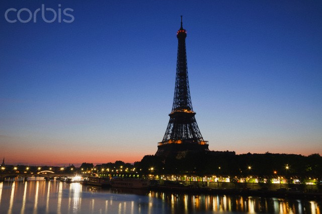 Eiffel Tower and River Seine at Dawn
