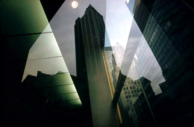 Door reflections, New York - Ernst Haas