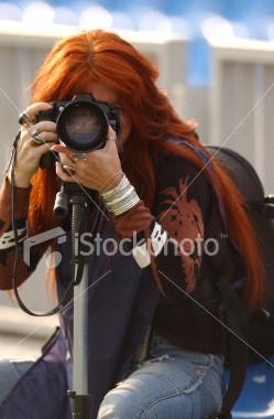 Girl shooting photo