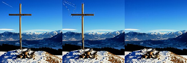 Removing a cross from the top of a mountain — photo by alles-schlumpf - Daniela Hartmann