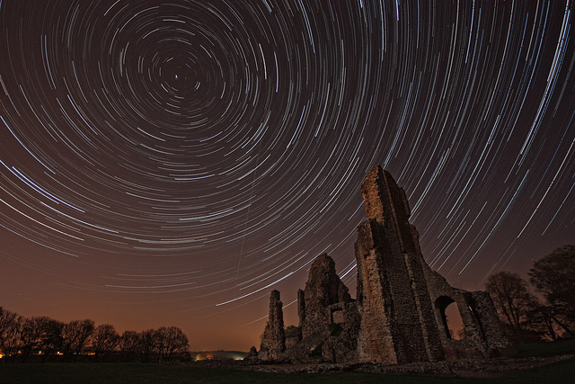 Star Trail at Sherborne Castle - England