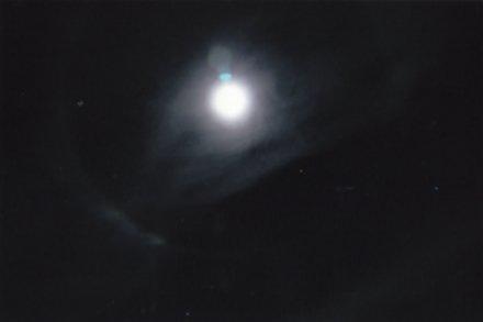 Light bulb ghost on the moon