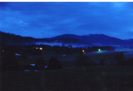 Countryside at dusk